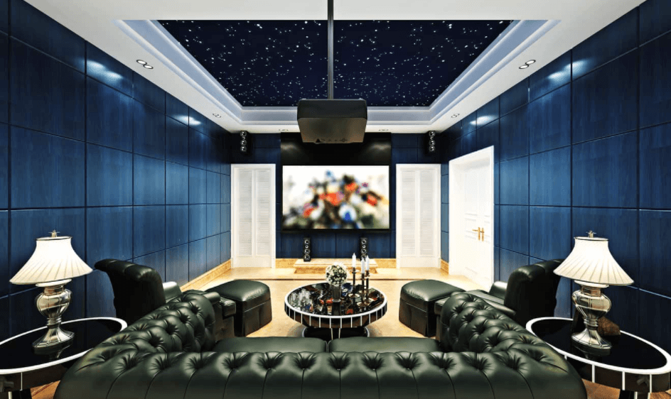 Basement becomes home theatre