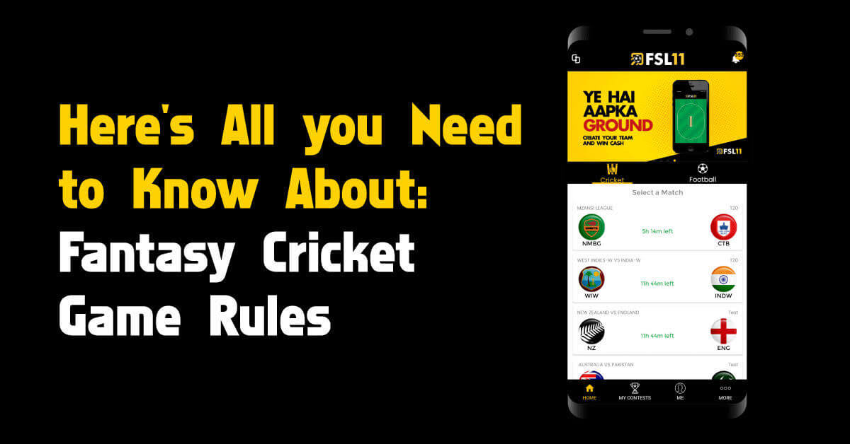 Fantasy Cricket Game Rules